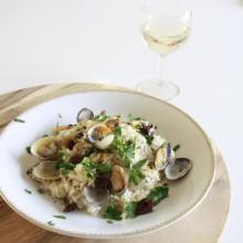 risotto-met-vongole-olijven-en-chorizo