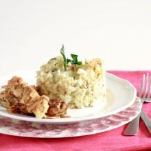 bloemkoolstamppot-met-gorgonzola-en-krokante-kip
