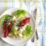 salade-met-kropsla-en-rivierkreeft