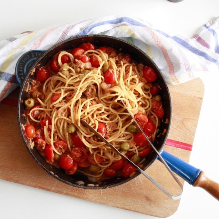 pasta-met-tonijnsaus