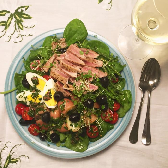 verse salade maken