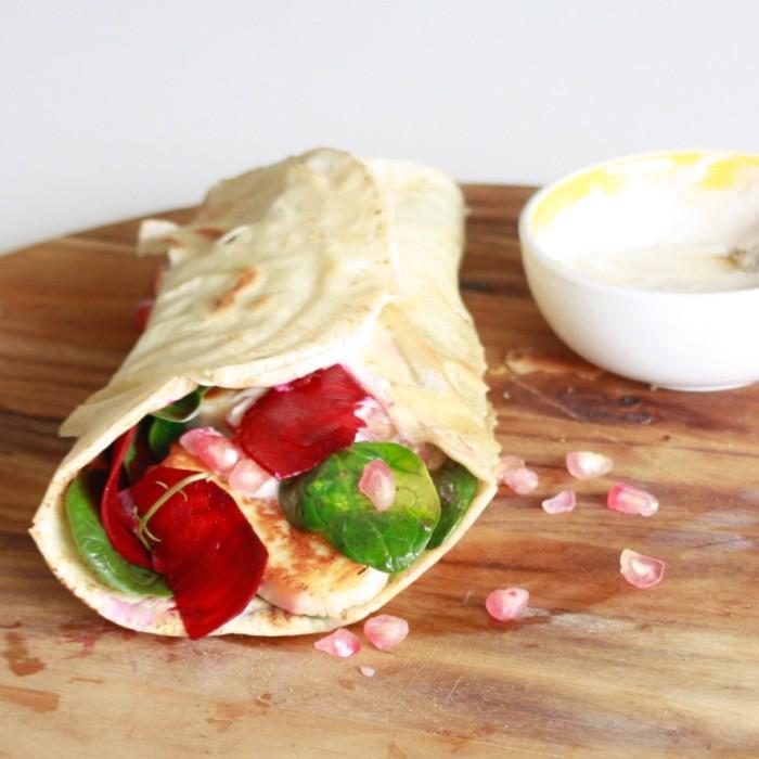 wrap-met-halloumi-en-granaatappel