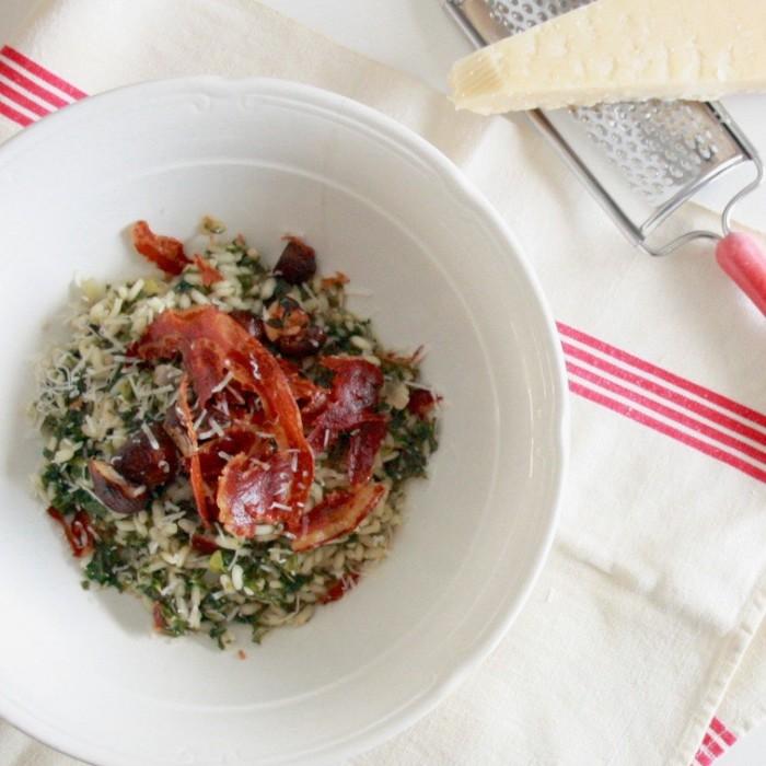 risotto-met-boerenkool-en pancetta