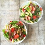 lentesalade met lam en peultjes