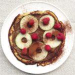 havermoutpannenkoek met chocolade en appel naareigensmaak